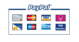 All major debit and credit cards accepted via a paypal terminal
